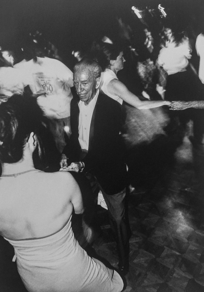 Los Angeles, lindy hop legend John Mills. Dancing at Joe's. Circa 2002.